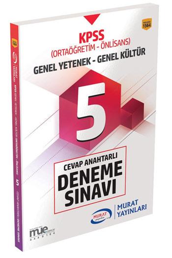 Murat Yayinlari 2018 KPSS Ortaögretim Ön Lisans Cevap Anahtarli 5 Deneme Sinavi