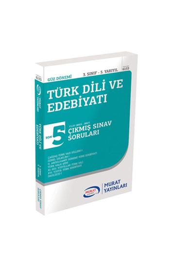 Murat Yayinlari 3. Sinif 5. Yariyil Türk Dili ve Edebiyati Son 5 Yil Çikmis Sinav Sorulari Kod 6153