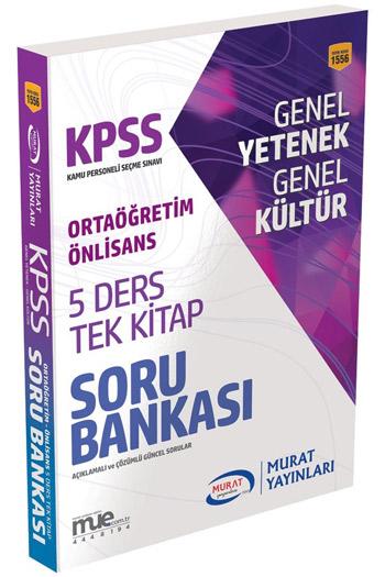Murat Yayinlari KPSS Ortaögretim Ön Lisans GY GK 5 Ders Tek Kitap Soru Bankası
