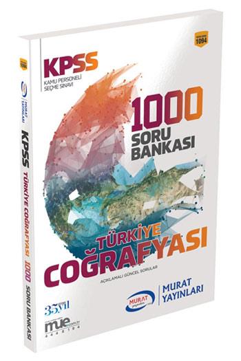 Murat Yayinlari KPSS Türkiye Cografyasi 1000 Soru Bankasi Kod 1094