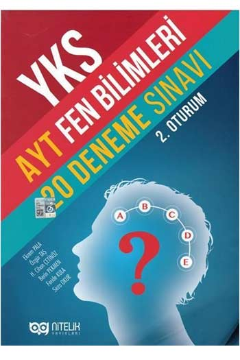 Nitelik Yayinlari YKS 2. Oturum AYT Fen Bilimleri 20 Deneme Sinavi
