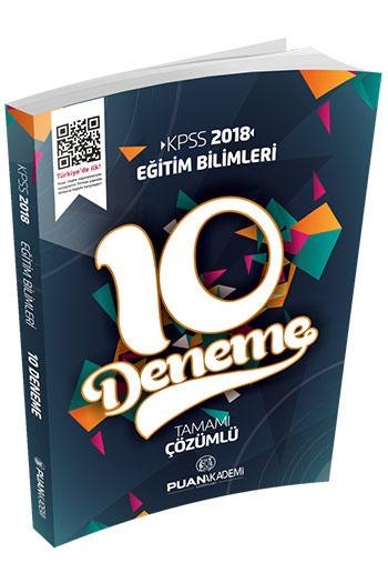 Puan Akademi Yayinlari 2018 KPSS Egitim Bilimleri Tamami Çözümlü 10 Deneme