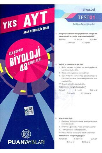 Puan Yayinlari YKS 2. Oturum AYT Biyoloji Çek Kopart 48 Akilli Test