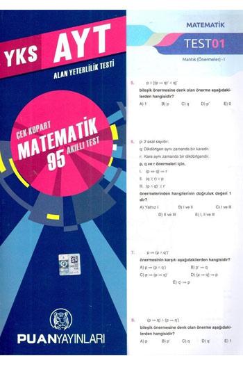 Puan Yayinlari YKS 2. Oturum AYT Matematik Çek Kopart 95 Akilli Test