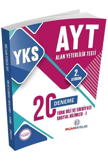 Puan Yayinlari YKS 2. Oturum AYT Türk Dili ve Edebiyati Sosyal Bilimler-1 20 Deneme