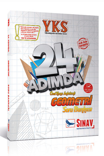 Sinav Yayinlari YKS 2. Oturum Geometri 24 Adimda Özel Konu Anlatimli Soru Bankasi