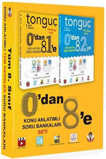 Tonguç Akademi - 8. Sinif 1. ve 2. Dönem 0'dan 8'e Tüm Dersler Konu Anlatimli Soru Bankalari Seti