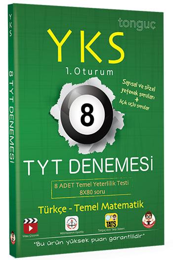 Tonguç Akademi YKS 1. Oturum TYT Türkçe-Temel Matematik 8 Denemesi