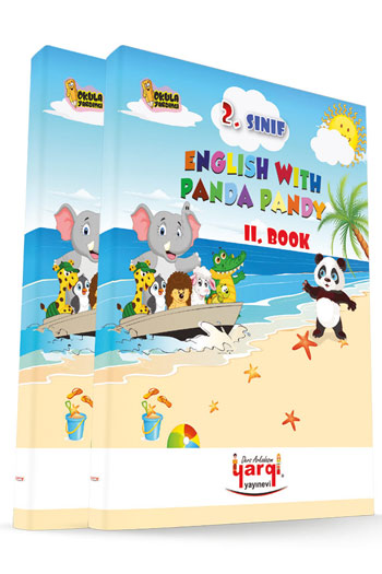Yargi Ders Arkadasim 2. Sinif English With Panda Pandy 2 Kitap CD'li