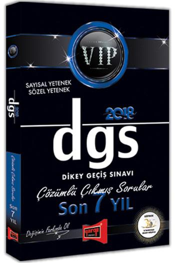 Yargi Yayinlari 2018 DGS VIP Sayisal Sözel Yetenek Son 7 Yil Çözümlü Çikmis Sorular