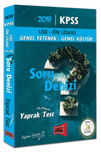 Yargi Yayinlari 2018 KPSS Lise Ön Lisans GY GK Soru Denizi Çek Kopartli Yaprak Test
