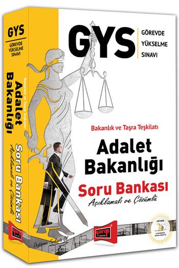 Yargi Yayinlari GYS Adalet Bakanligi Açiklamali ve Çözümlü Soru Bankasi