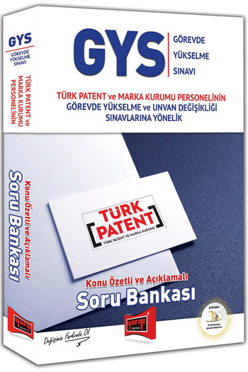 Yargi Yayinlari GYS Türk Patent ve Marka Kurumu Konu Özetli ve Açiklamali Soru Bankasi