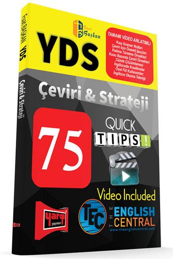 Yargi Yayinlari YDS Tamami Video Anlatimli Çeviri ve Strateji 75 QUICK TIPS