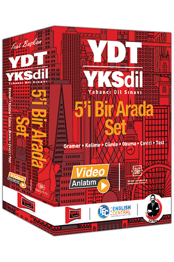 Yargi Yayinlari - YDT YKSDIL 5'i Bir Arada Set - Yargi Yayinlari YDT YKSDIL Kitabi - YKS Dil Kitabi - YDT Kitabi