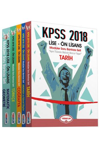 Yediiklim Yayinlari 2018 KPSS Lise Ön Lisans Soru Bankasi Modüler Set (5 Kitap)