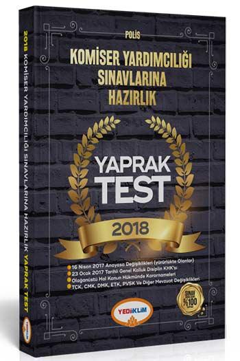 Yediiklim Yayinlari 2018 Komiser Yardimciligi Sinavlarina Hazirlik Yaprak Test