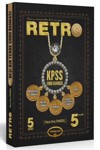 Yediiklim Yayinlari - KPSS Soru Bankasi - RETRO - 5'i Bir Yerde Soru Bankasi - KPSS Retro Kitabi