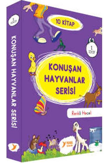 Yuva Yayinlari 1. Sinif Konusan Hayvanlar Serisi Renkli Heceli 10 Kitap