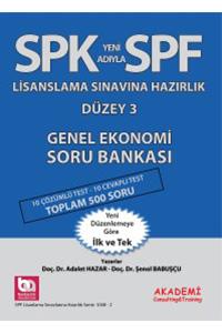 Akademi Yayinlari SPF Lisanslama Sinavlarina Hazirlik Düzey 3 Genel Ekonomi Soru Bankasi