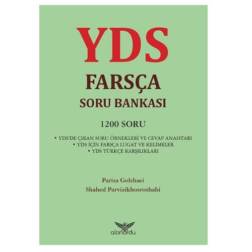 Altinordu Yayinlari YDS Farsça Soru Bankasi 1200 Soru