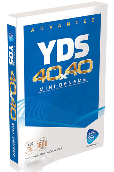 MeToo Publishing YDS Advanced 40X40 Mini Deneme