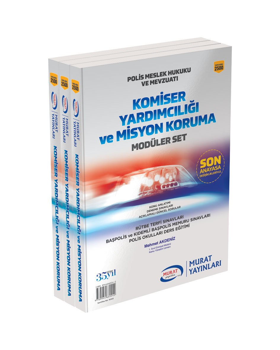 Murat Yayinlari Komiser Yardimciligi ve Misyon Koruma Modüler Set Kod:2500