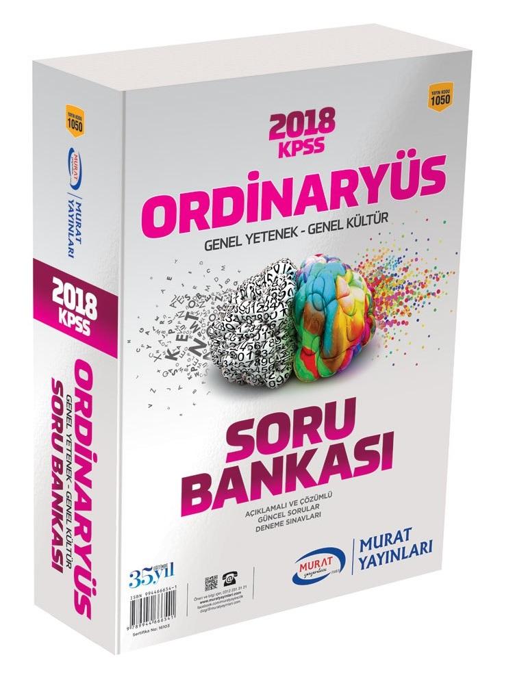 Murat Yayinlari 2018 KPSS Ordinaryüs Genel Yetenek Genel Kültür Soru Bankasi Modüler Set