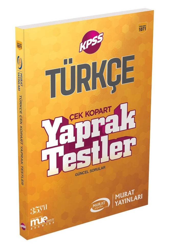 Murat Yayinlari 2018 KPSS Türkçe Çek Kopart Yaprak Testler