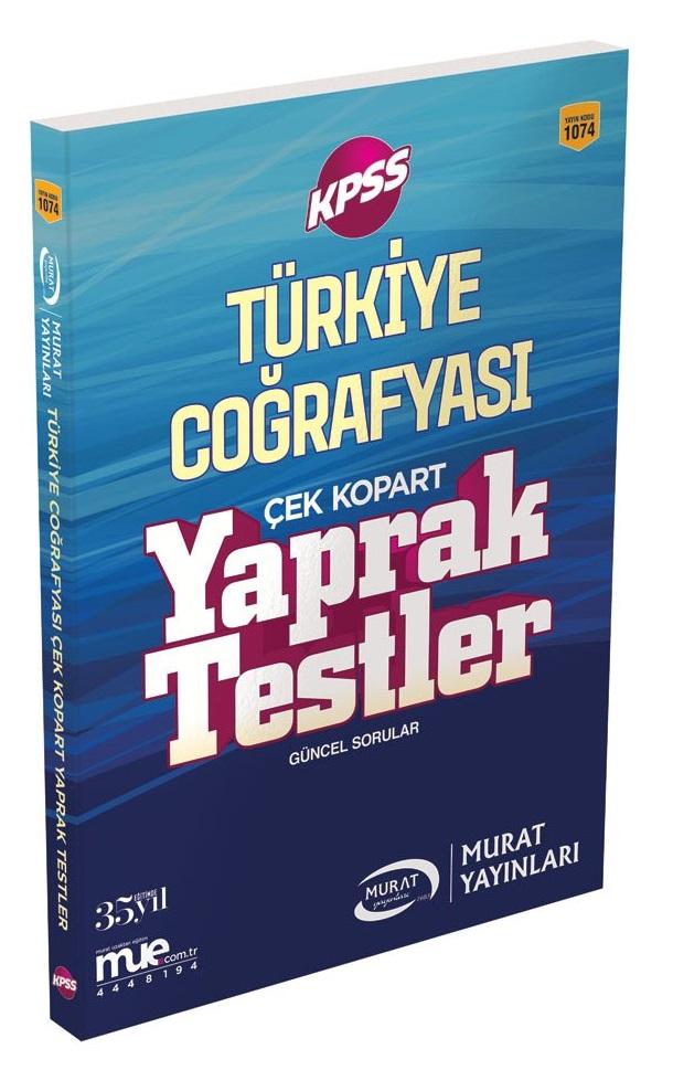 Murat Yayinlari 2018 KPSS Türkiye Cografyasi Çek Kopart Yaprak Testler