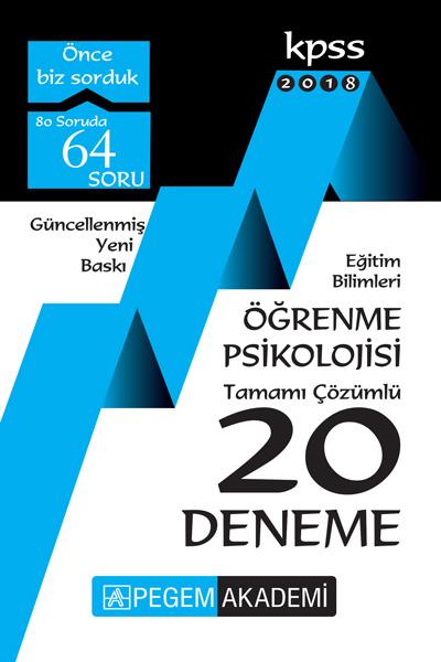 Pegem Yayinlari 2018 Egitim Bilimleri Ögrenme Psikolojisi Tamami Çözümlü 20 Deneme