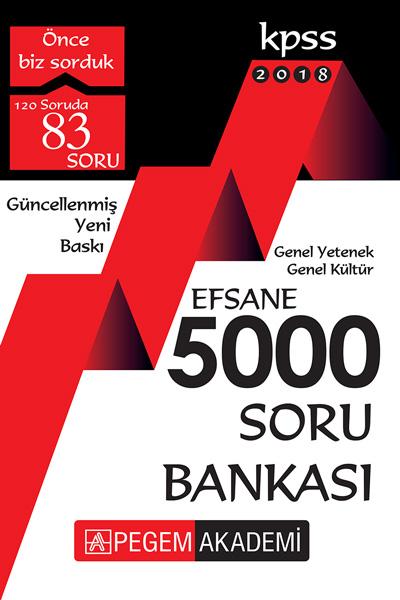 Pegem Yayinlari 2018 KPSS Genel Yetenek Genel Kültür Efsane 5000 Soru Bankasi