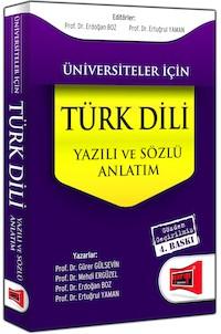 Üniversiteler Için Türk Dili - Sözlü ve Yazili Anlatim Yargi Yayinlari