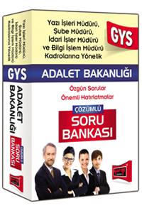 Yargi Yayinlari 2016 GYS Adalet Bakanligi Yazi Isleri,Sube ve Idari Isler Müdürü Için Çözümlü Soru Bankasi