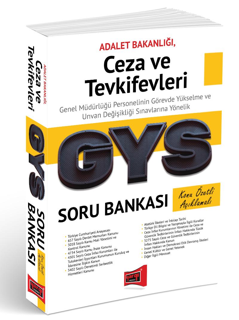 Yargi Yayinlari GYS Ceza ve Tevkifevleri Konu Özetli Açiklamali Soru Bankasi