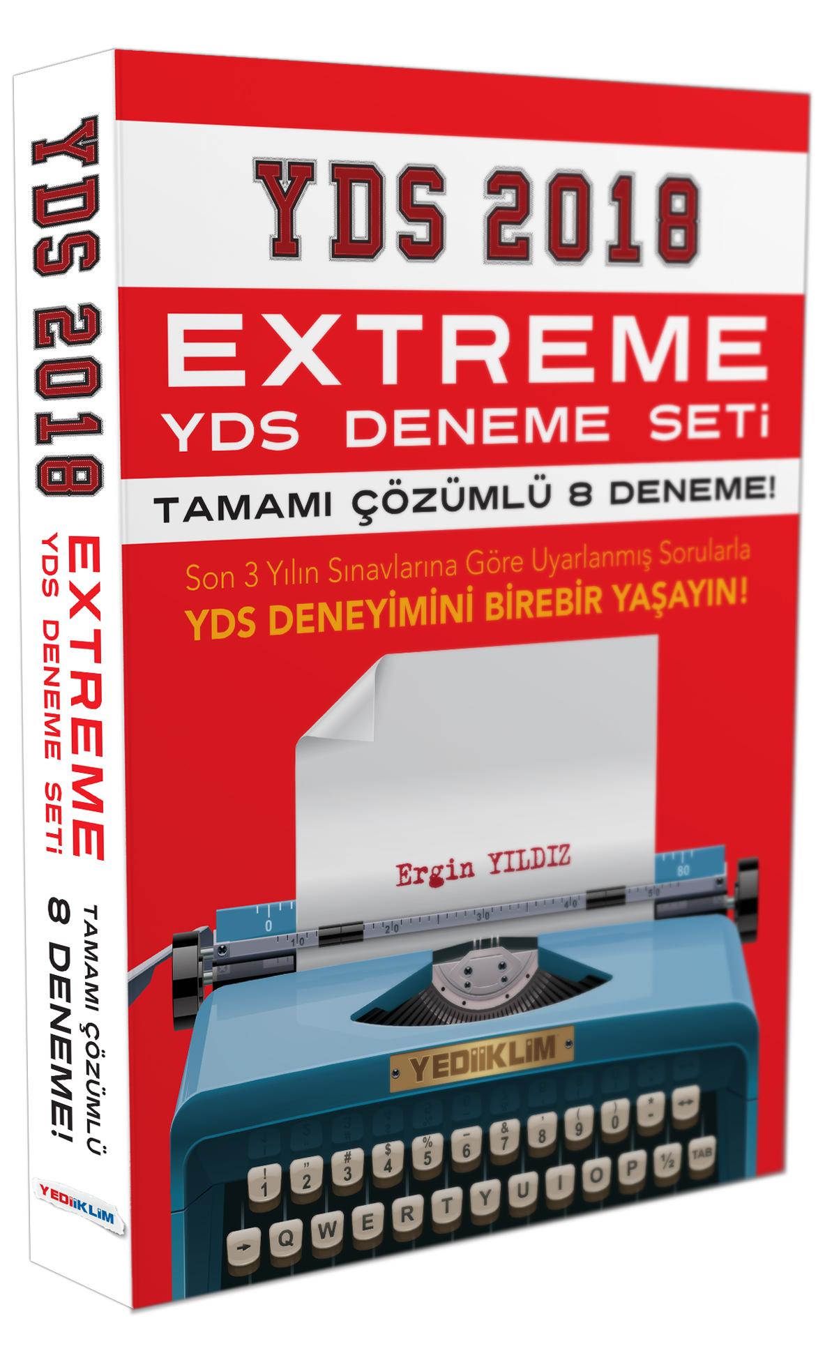 Yediiklim Yayinlari 2018 YDS Extreme Tamami Çözümlü 8 Fasikül Deneme