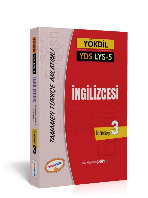 Yediiklim Yayinlari YÖKDIL YDS Ayt 5 Ingilizce Kelimeleri Seviye 3