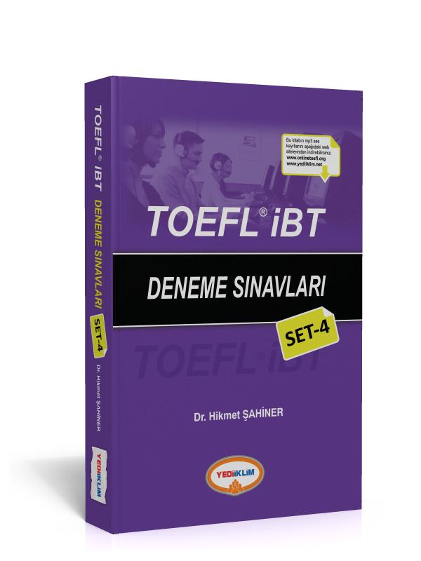 Yediiklim Yayinlari TOEFL IBT Deneme Sinavlari Set 4