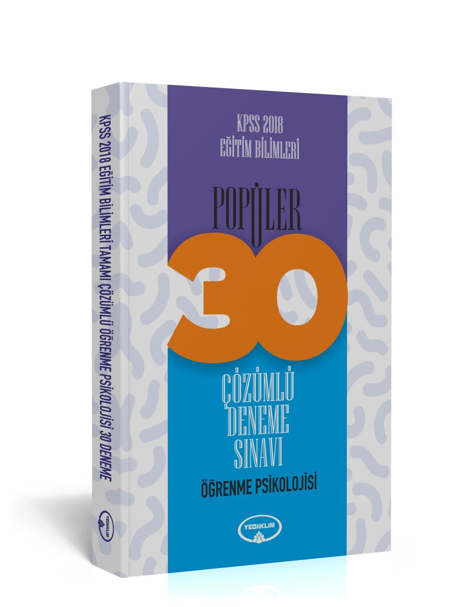 Yediiklim Yayinlari 2018 KPSS Egitim Bilimleri Ögrenme Psikolojisi Tamami Çözümlü 30 Popüler Deneme